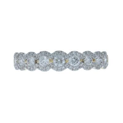 Womens 2mm 5/8 CT. T.W. Genuine White Diamond 14K Gold Band