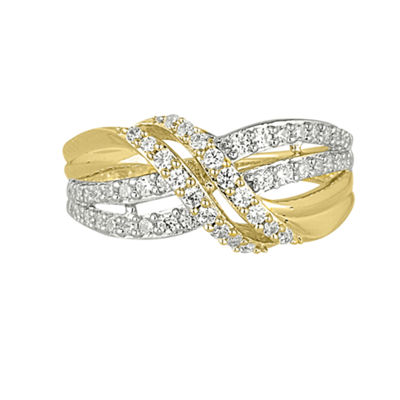 Womens 2mm 1/2 CT. T.W. Genuine White Diamond 10K Gold Band