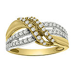 2MM 1/2 CT. T.W. Genuine White Diamond 10K Gold Band