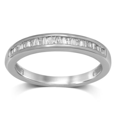 Womens 1/7 CT. T.W. Genuine White Diamond 10K Gold Band