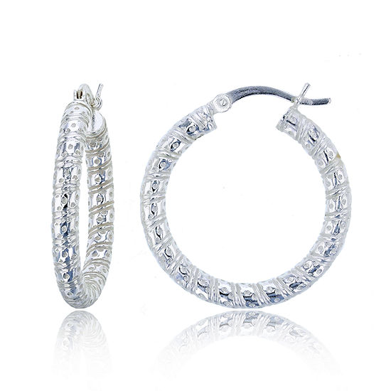 Sterling Silver 20mm Hoop Earrings