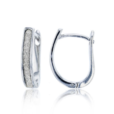 Sterling Silver 18.5mm Hoop Earrings