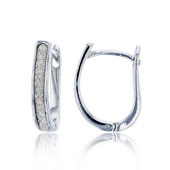 Sterling Silver 18.5mm Hoop Earrings