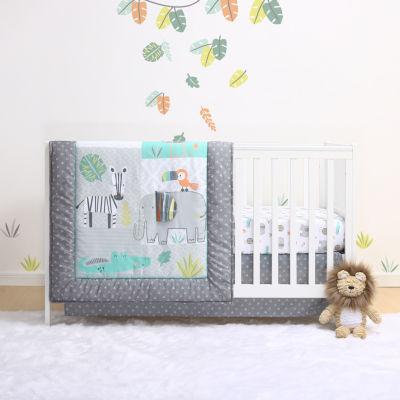 Little Haven Safari 4-pc. Crib Bedding Set