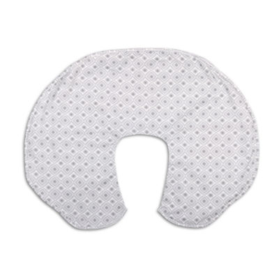 The Peanut Shell Celeste Grey Geo Nursing Pillows