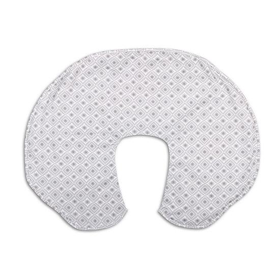 The Peanut Shell Celeste Grey Geo Nursing Pillows