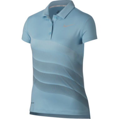 Nike Short Sleeve Knit Polo Shirt - Big Kid Girls