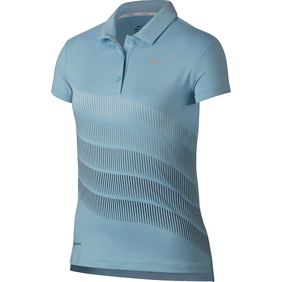 Nike Short Sleeve Knit Polo Shirt - Big Kid Girls