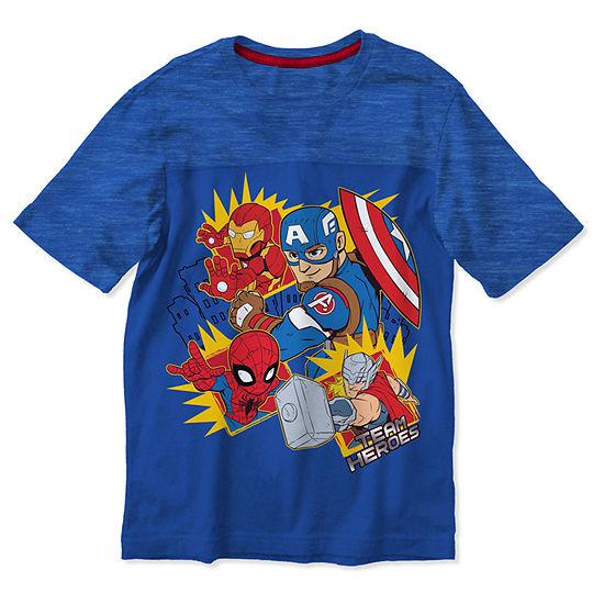 Boys Crew Neck Short Sleeve Graphic T-Shirt-Toddler