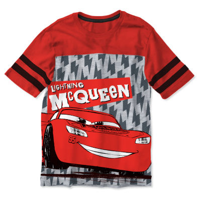 Disney Boys Crew Neck Short Sleeve Graphic T-Shirt-Toddler