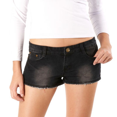 phistic Women's Denim Shorts with Embellished Pockets