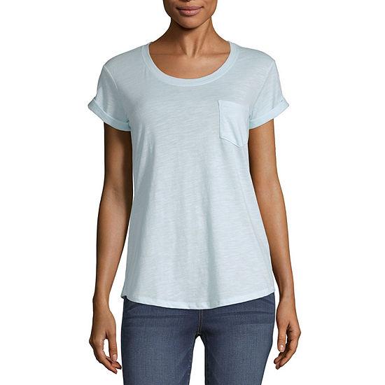 a.n.a. Womens Scoop Neck Short Sleeve T-Shirt