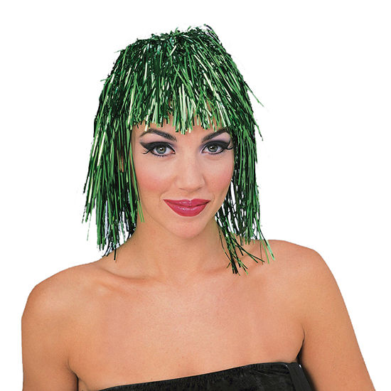 Green Tinsle Wig Dress Up Accessory
