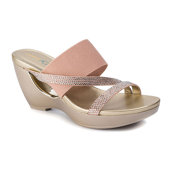 Andrew Geller Womens Ag Athira Wedge Sandals
