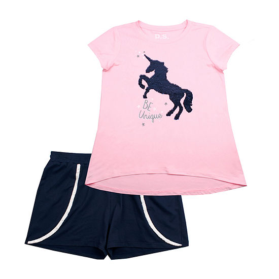 Ps Aeropostale 2 Pc Short Set Big Kid Girls