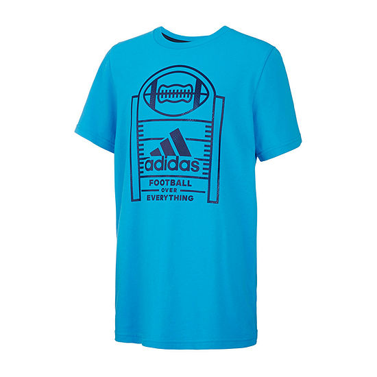 adidas Not Applicable Boys Round Neck Short Sleeve Graphic T-Shirt - Preschool