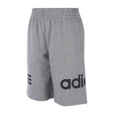 adidas Boys Mid Rise Drawstring Waist Workout Shorts Preschool / Big Kid