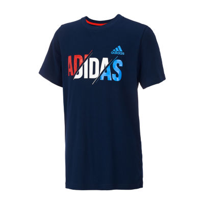 adidas Boys Round Neck Short Sleeve Graphic T-Shirt Preschool / Big Kid