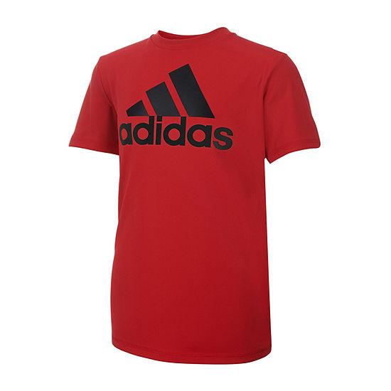 adidas Boys Crew Neck Short Sleeve Graphic T-Shirt - Big Kid