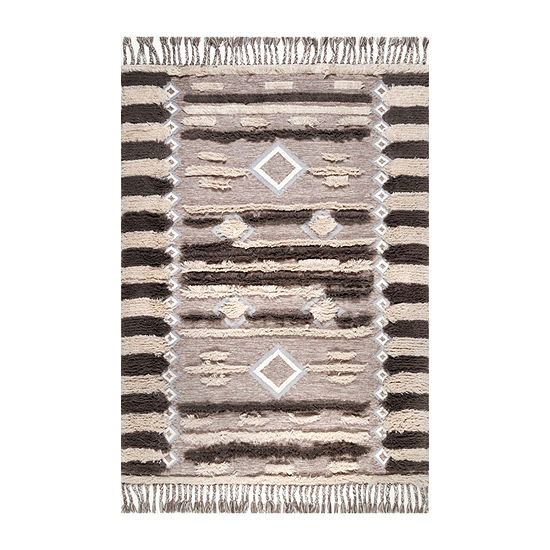 nuLoom Heller Shaggy Wool Hand Tufted Area Rug