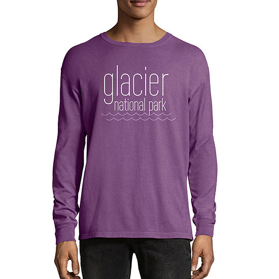 d5f2bbd05 Hanes National Parks Comfort Wash Mens Crew Neck Long Sleeve Graphic T-Shirt  - JCPenney