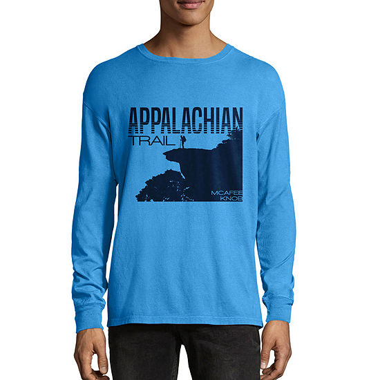 Hanes National Parks Comfort Wash Mens Crew Neck Long Sleeve Graphic T-Shirt