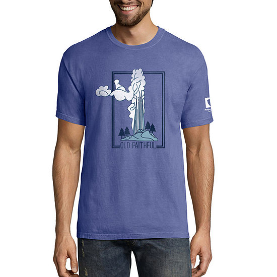 Hanes National Parks Comfort Wash Mens Crew Neck Short Sleeve Graphic T-Shirt