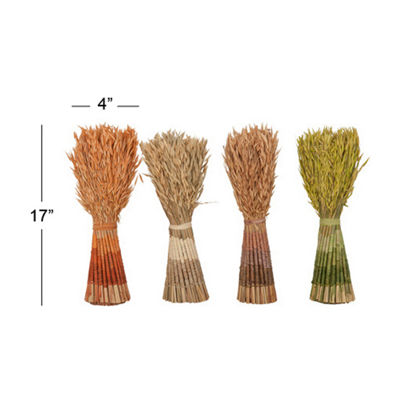 Willow Row Natuaral Décor Foliage - Set Of 4