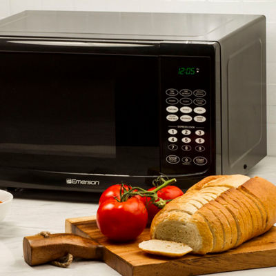 Emerson 0.9Cu Ft 900 Watt Touch Control Microwave Oven