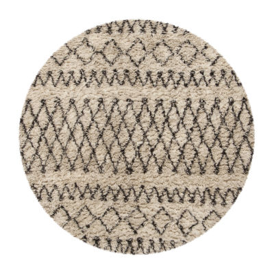 Safavieh Casablanca Collection Stephanie Geometric Round Area Rug