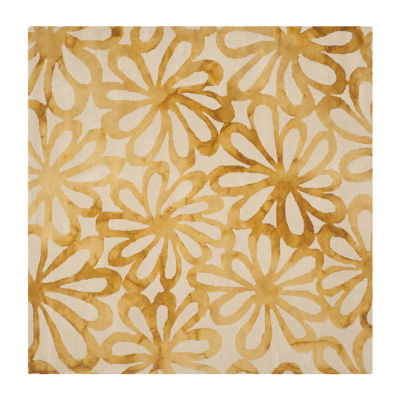 Safavieh Dip Dye Collection Chloe Floral Square Area Rug