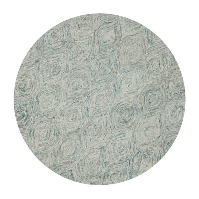 Safavieh Ikat Collection Cheshunt Geometric Round Area Rug