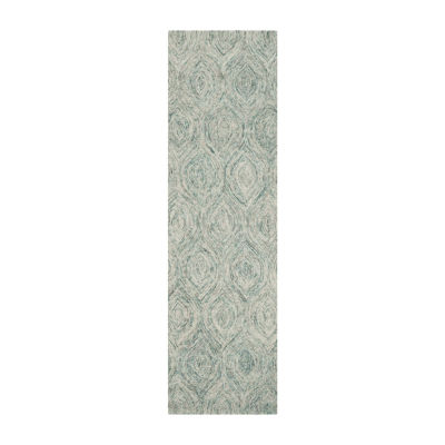 Safavieh Ikat Collection Cheshunt Geometric Runner Rug
