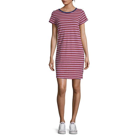 a.n.a Short Sleeve Shirt Dress-Tall
