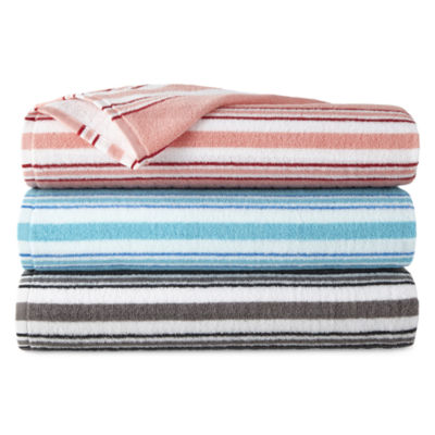 JCPenney Home Mix And Match Stripe Striped Bath Towel
