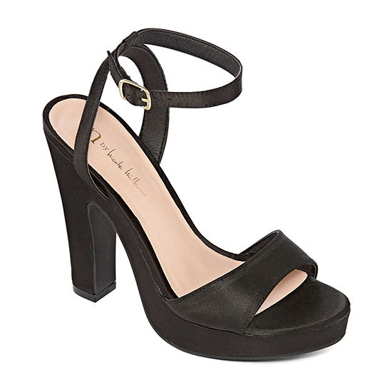 Nicole By Nicole Miller Womens Lindy Pumps Open Toe Block Heel