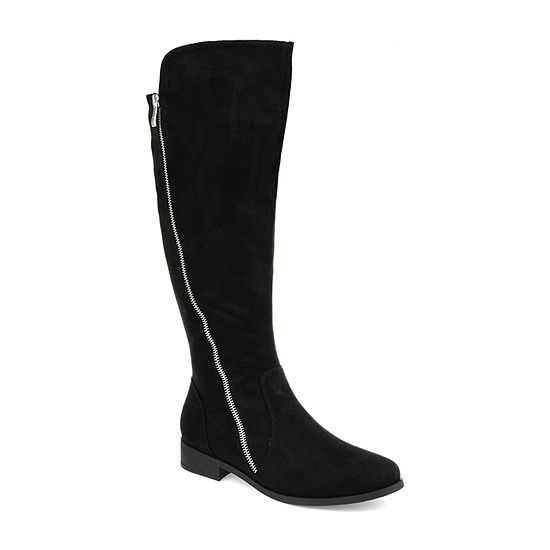 Journee Collection Womens Kerin Riding Boots Stacked Heel