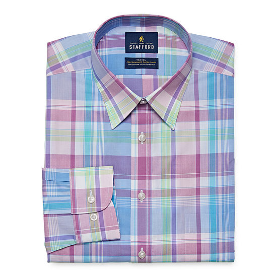 Stafford Mens Wrinkle Free Stain Resistant Stretch Super Shirt Dress Shirt