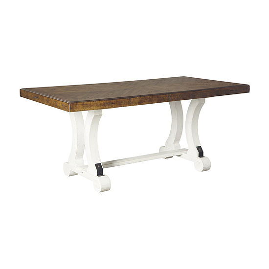 Signature Design by Ashley Valdine Collection Rectangular Wood-Top Dining Table