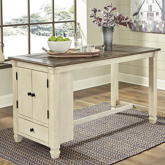 Signature Design by Ashley Roanoke Collection Rectangular Wood-Top Dining Table
