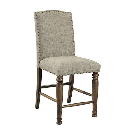 Signature Design by Ashley Lettner Collection 2-pc. Counter Height Upholstered Bar Stool