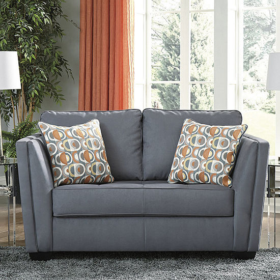 Signature Design by Ashley Filone Collection Track-Arm Loveseat