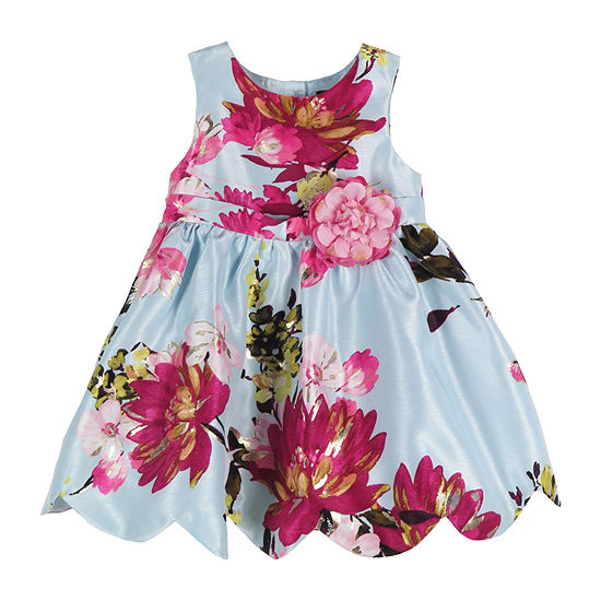 Lilt - Baby Girls Sleeveless Floral A-Line Dress