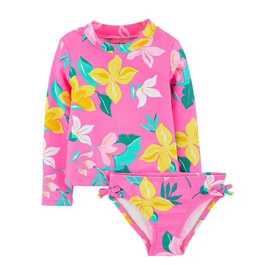 Carter's - Baby Floral Rash Guard Set