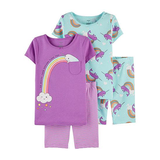 Carter's Girls 4-pc. Pajama Set - Little/ Big Kid
