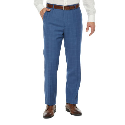 Stafford Mens Windowpane Slim Fit Suit Pants
