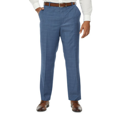 Stafford Mens Windowpane Classic Fit Suit Pants - Big and Tall