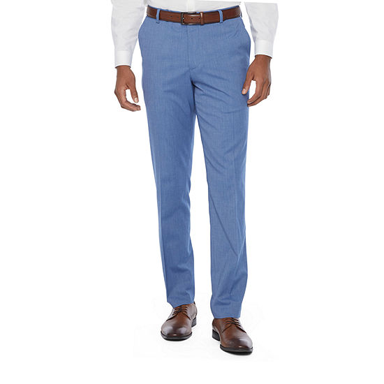 JF J.Ferrar Mens Slim Fit Suit Pants