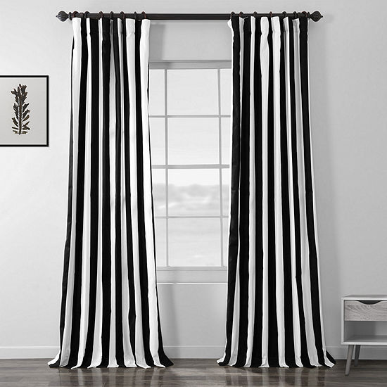Exclusive Fabrics & Furnishing Cabana Printed Cotton Curtain Panel