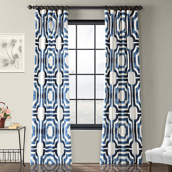 Exclusive Fabrics & Furnishing Mecca 100% Cotton Energy Saving Light-Filtering Rod-Pocket/Back-Tab Single Curtain Panel